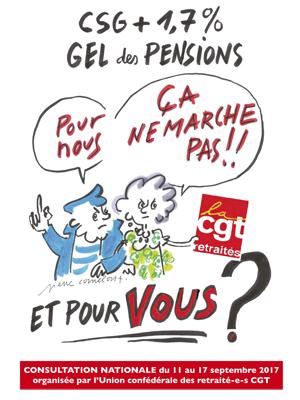 affiche gel des pensions